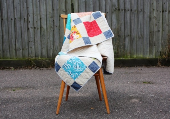 Paintbox Disappearing Nine Patch Quilt