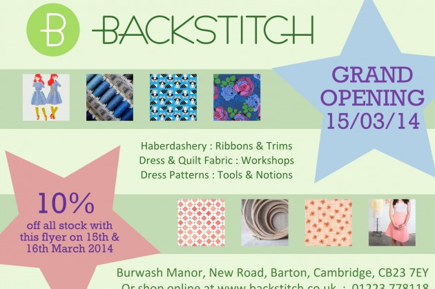 Backstitch: We Grandly Open the Burwash Shop
