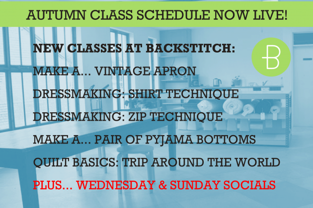 New Classes: Autumn Schedule