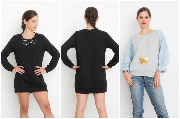 I AM Patterns Apollon sweatshirt Backstitch