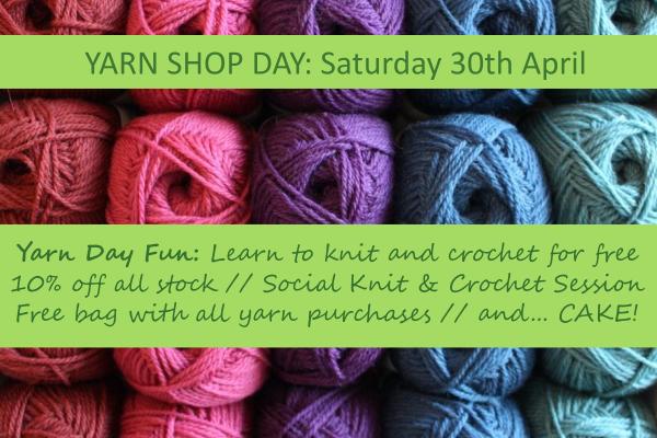 Yarn Shop Day at Backstitch in Cambridge
