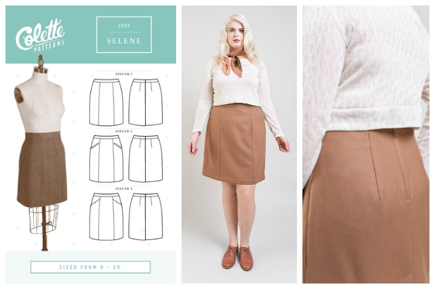 Colette Patterns Selene Skirt, Three Variations