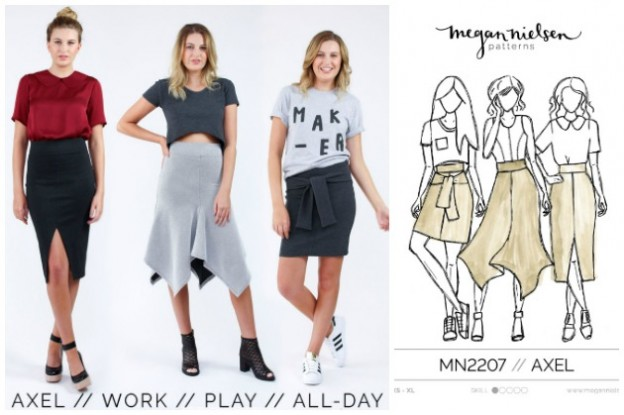 Megan Nielsen Axel Skirt and Sudley Dress and Blouse