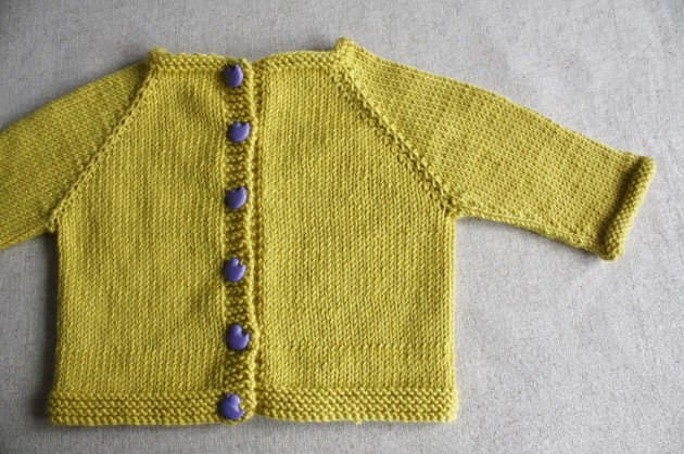 Happiness is Knitting a Tiny Yellow Cardigan