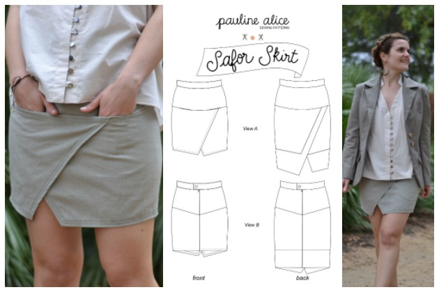 The Pauline Alice Safor Skirt sewing pattern