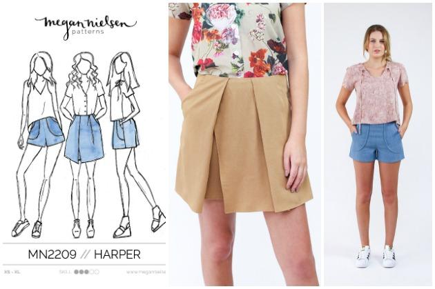 Megan Nielsen Harper Shorts and Skort sewing pattern