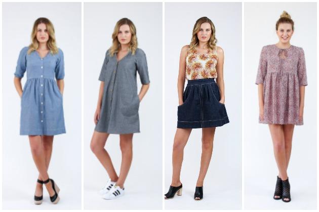 Megan Nielsen Darling Ranges Dress, Brumby Skirt and Sudley Dress