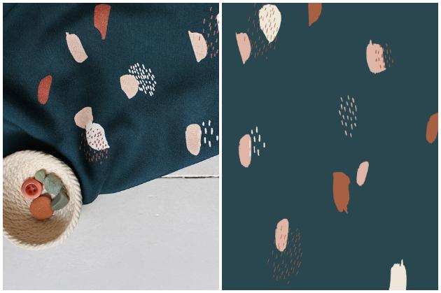 Atelier Brunette Moonstone Green Viscose Dress Fabric