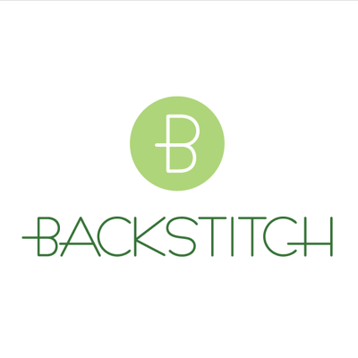 Backstitch Green Tote Bag | Cotton Fabric Shopper | Backstitch