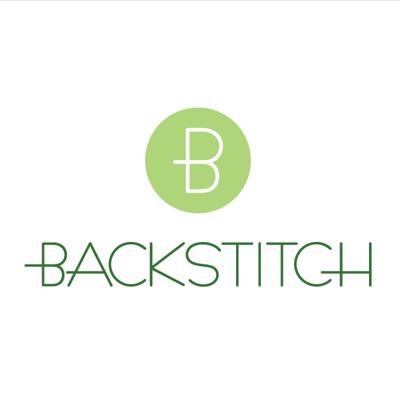 Kokka Echino: Den in White on Black | Japanese Fabric | Backstitch