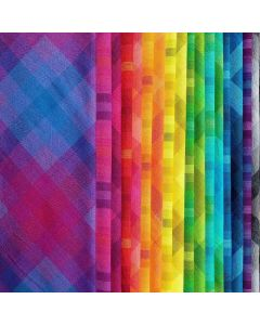 Kaleidoscope Stripes and Plaids by Alison Glass | Andover Fabrics | Quilting Fabric | Backstitch