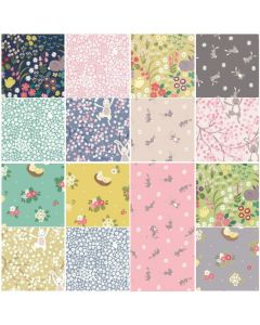 Hop into the season with this gorgeous Spring themed collection from Lewis & Irene! In these cheerful fabrics you'll find bunnies swinging from blossoming branches, fluffy chicks and pretty florals. Perfect for Springtime & Easter projects.