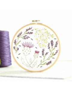 Hawthorn Handmade Highland Heathers embroidery kit