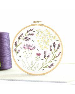 Hawthorn Handmade Highland Heathers embroidery kit