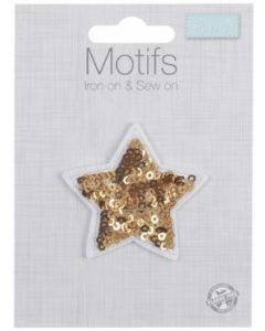Motif: Gold Star | Patch Embellishments | Backstitch