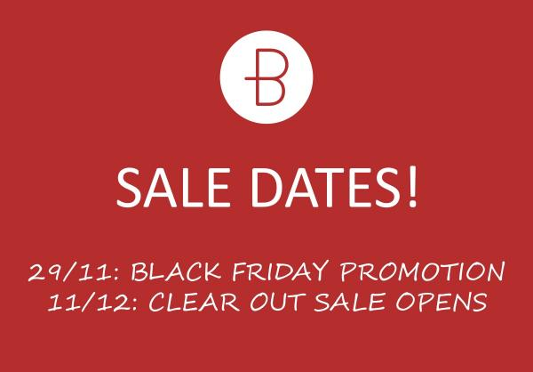 Big Sale Dates!