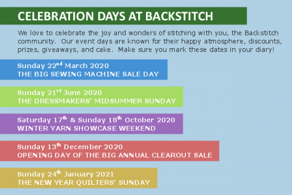 Celebration Days at Backstitch