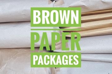 Backstitch Brown Paper