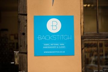 Backstitch Sign