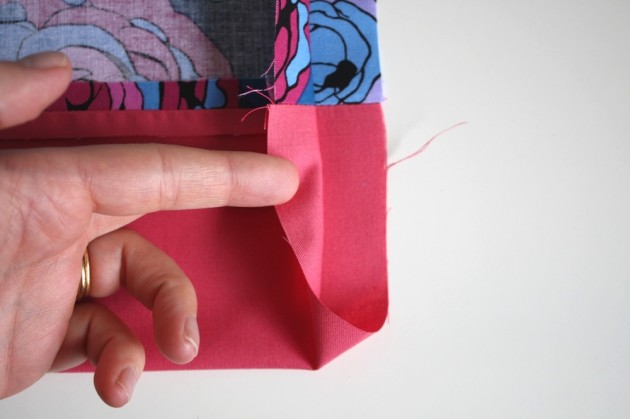 6. Sew bag outer: part 2