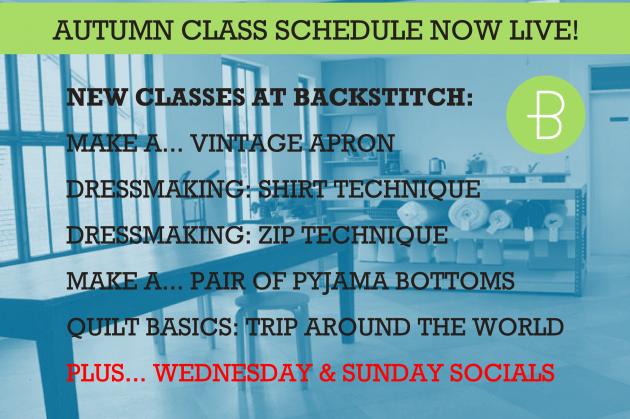 New Classes: Autumn Schedule