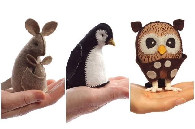Kanga Owl & Penguin Collage
