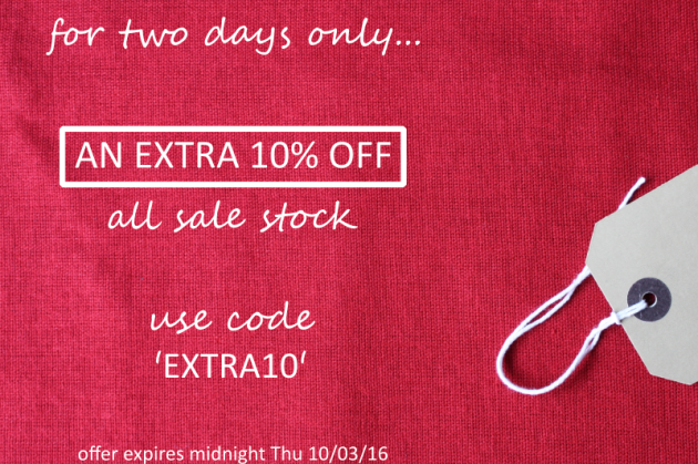 An Extra 10% Off All Sale Stock!