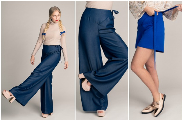 Named Patterns Astrid Wrap Pants and Shorts