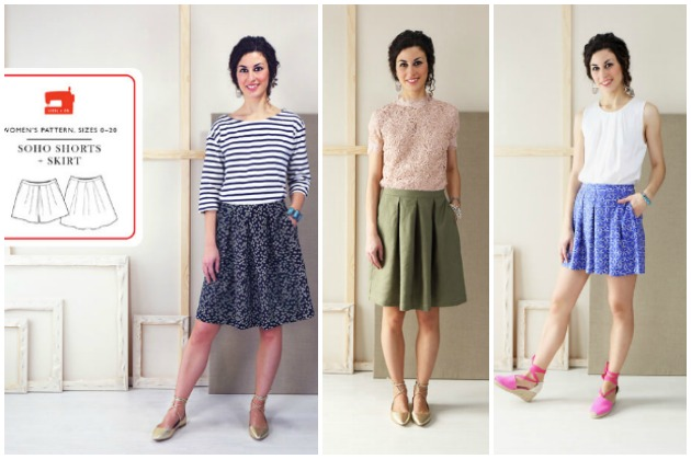 Liesl & Co Soho Shorts & Skirt Sewing Pattern
