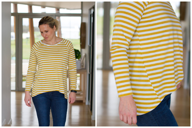 Make It Perfect Raglan Twist Top - Stripey