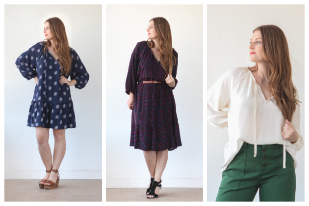 True Bias Roscoe Blouse & Dress