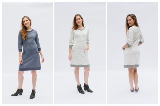 Victory Patterns Lola Sweater Dress: Digital PDF Pattern