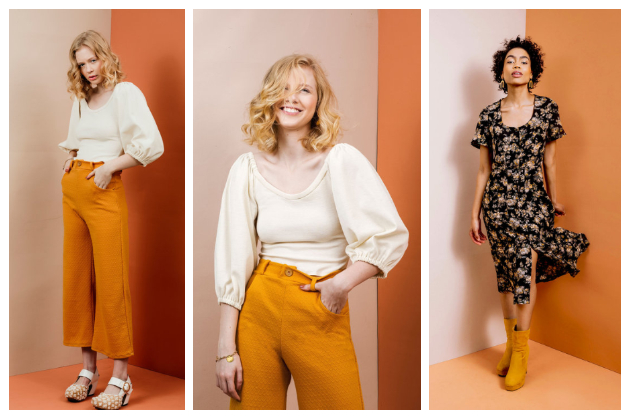 Friday Pattern Company Joan Trousers, Adrienne Blouse and Hughes