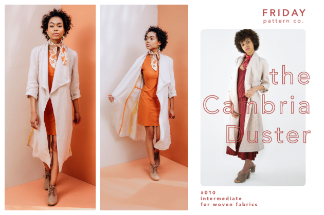 The Friday Pattern Company Cambria Duster
