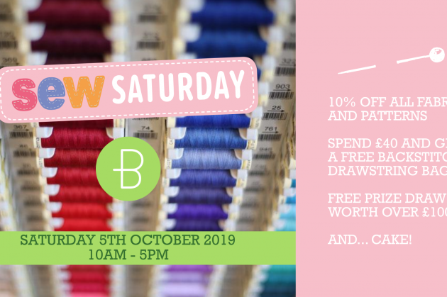 Sew Saturday at Backstitch on 5th October