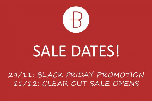 Big Sale Dates!