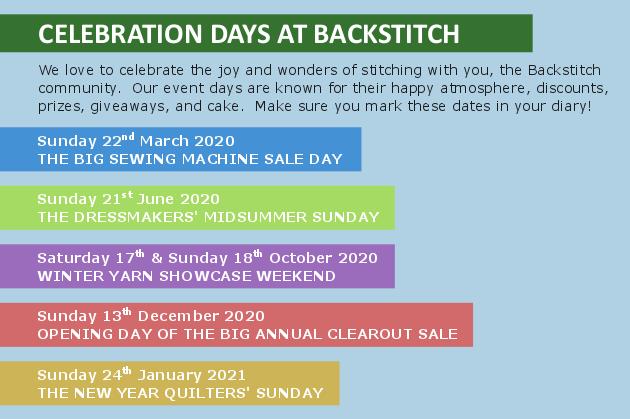 Celebration Days at Backstitch